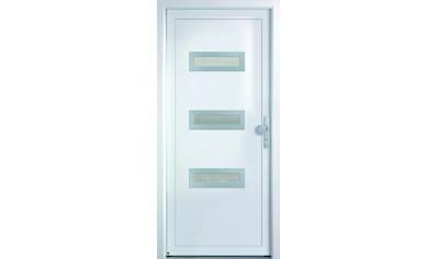 KM MEETH ZAUN GMBH Mehrzweck - Haustür »K366D«, nach Wunschmaß, rechts oder links, mit Griffgarnitur kaufen