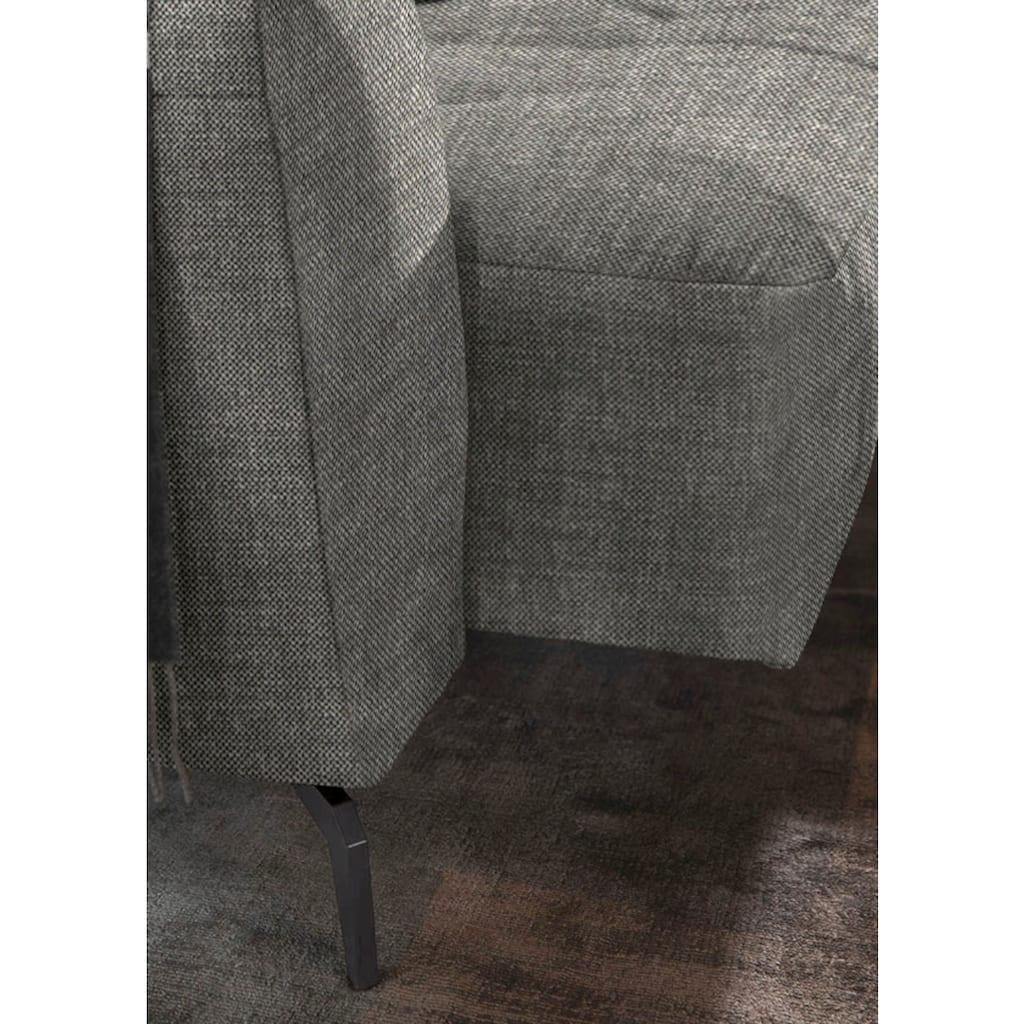 W.SCHILLIG Ecksofa »wilson«, mit Absteppungen, Füße Schwarz pulverbeschichtet, Breite 292 cm