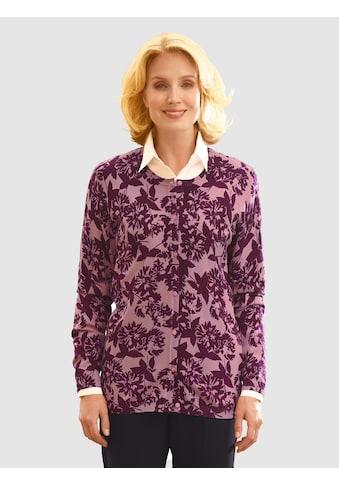 Paola Strickjacke mit floralem Druck kaufen
