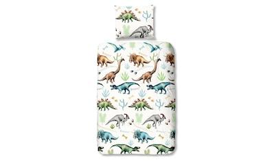 TRAUMSCHLAF Jugendbettwäsche »Dinosaurier«, aus glatter 100% Baumwolle kaufen