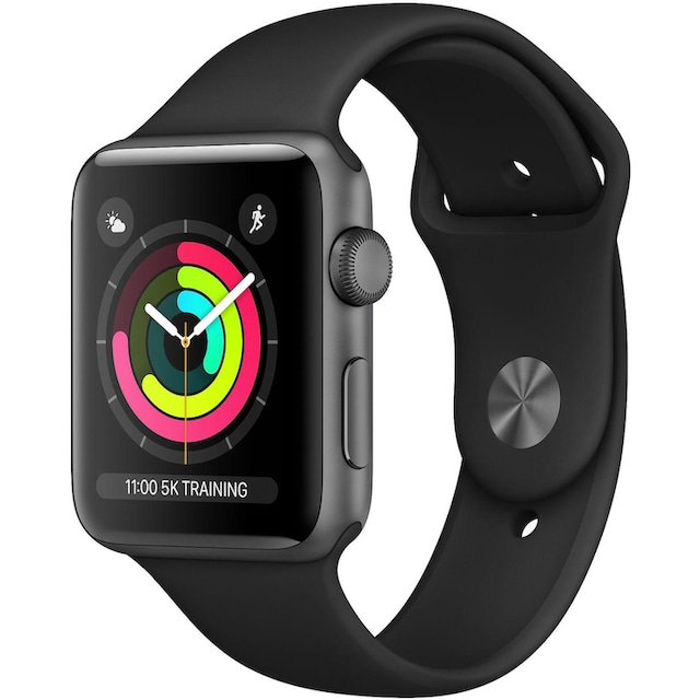 Apple Series 3 GPS, Aluminiumgehäuse mit Sportarmband 42mm Watch (Watch OS 5)