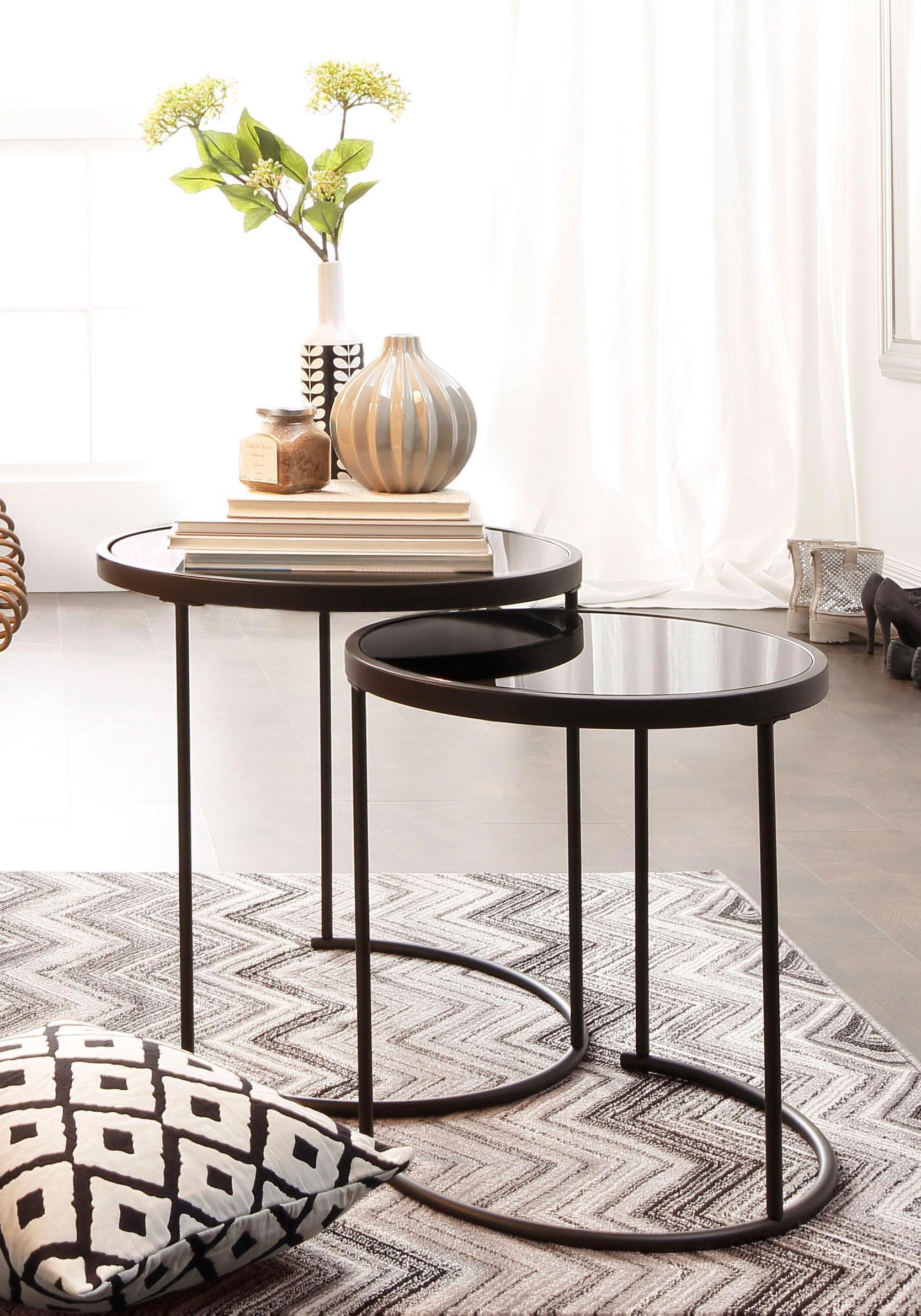 Home affaire Beistelltisch, (Set, 2 St.) schwarz Beistelltische Tische Beistelltisch