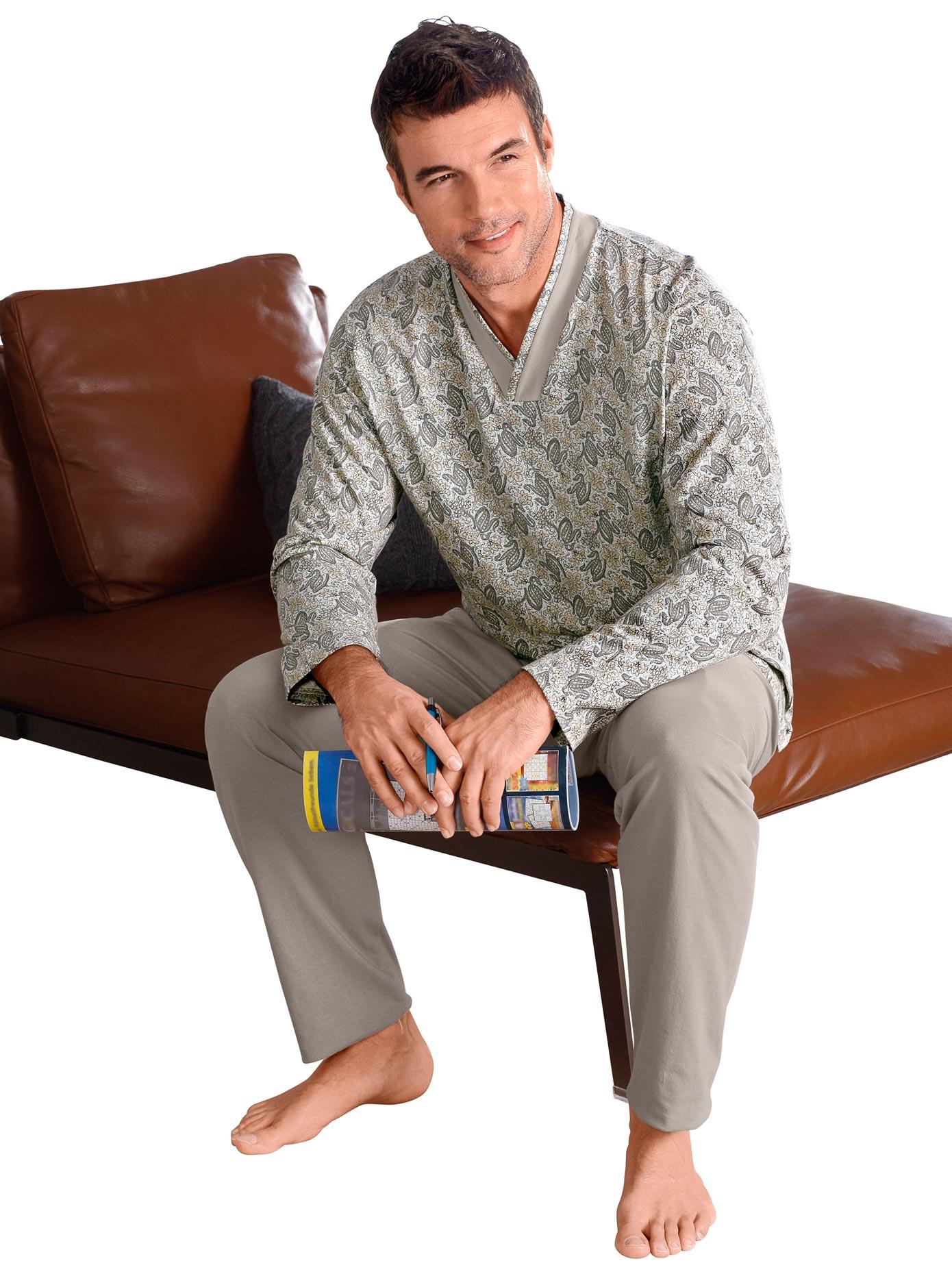 Schlafanzug Götting | Bekleidung > Wäsche > Nachtwäsche | Grau | Götting