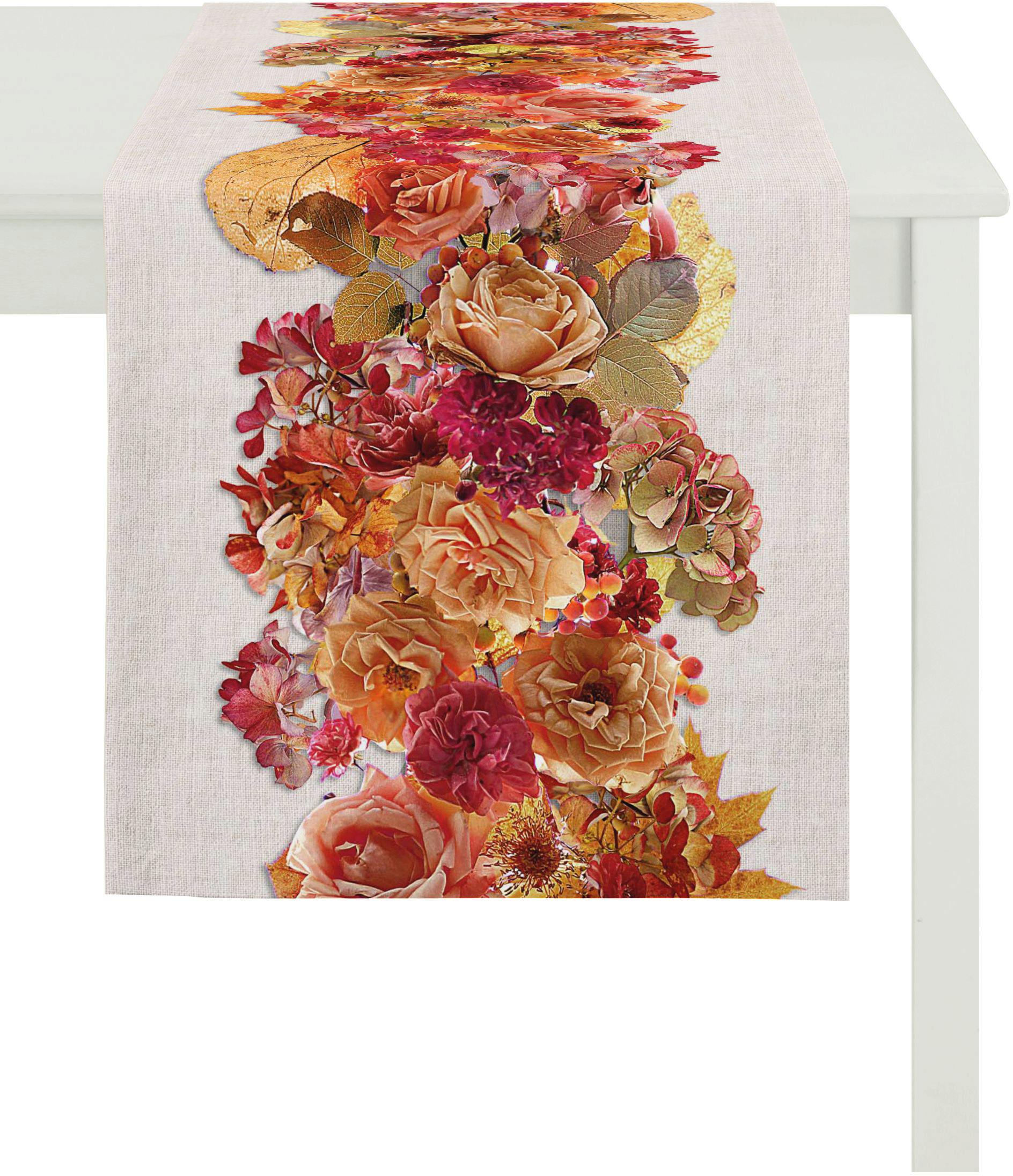 Apelt Tischläufer, 40x140 cm, »2921 Indian Summer« | Heimtextilien > Tischdecken und Co > Tischläufer | Orange | Baumwolle | APELT