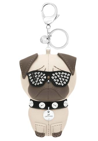 Swarovski Schlüsselanhänger »Hund, Roxie Handtaschen-Charm, 5352888«, mit Swarovski® Kristallen kaufen