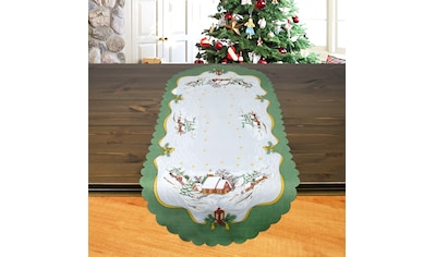 Delindo Lifestyle Tischläufer »Weihnachtskirche«, gedrucktes Design, blickdichter Stoff kaufen