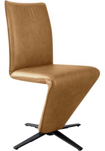 K+W Komfort & Wohnen Drehstuhl »Deseo II«, Stuhl mit federnder Sitzschale, Sternfuß in Metall schwarz Struktur kaufen