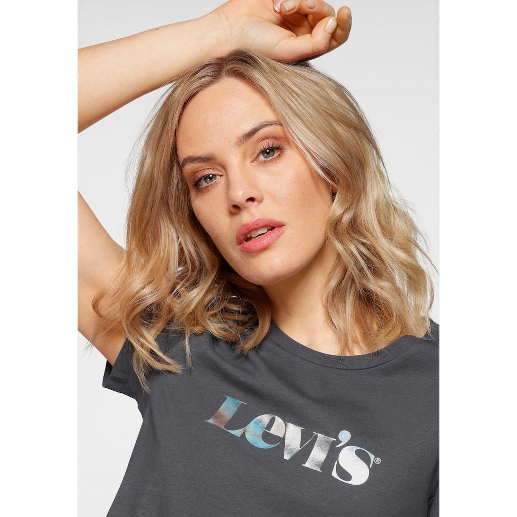 Levi's® Rundhalsshirt »The Perfect Tee Pride Edition«, mit glänzendem Marken-Schriftzug
