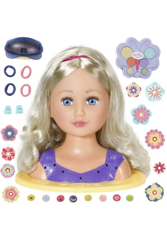 Baby Born Frisier- & Schminkkopf »Sister Styling Head, lila«, mit 24 tollen Accessoires kaufen