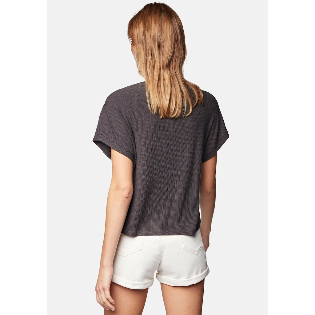 Mavi T-Shirt »LACE DETAIL TOP«, V-Shirt in stylischer Cropped Form