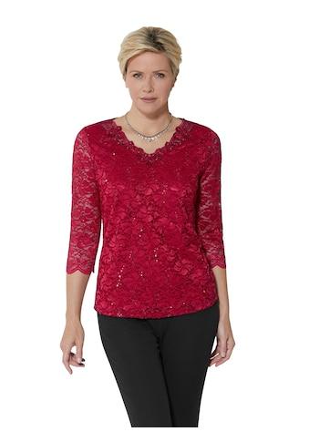 Lady Shirt mit verführerischer, ton - in - ton - farbiger Spitze überzogen kaufen