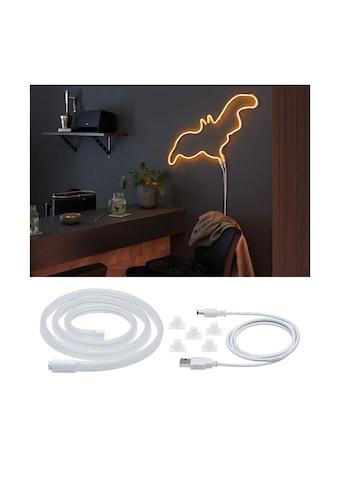Paulmann LED-Streifen »Neon Colorflex USB Strip Orange 1m 4,5W 5V weiß Kunststoff«, 1... kaufen