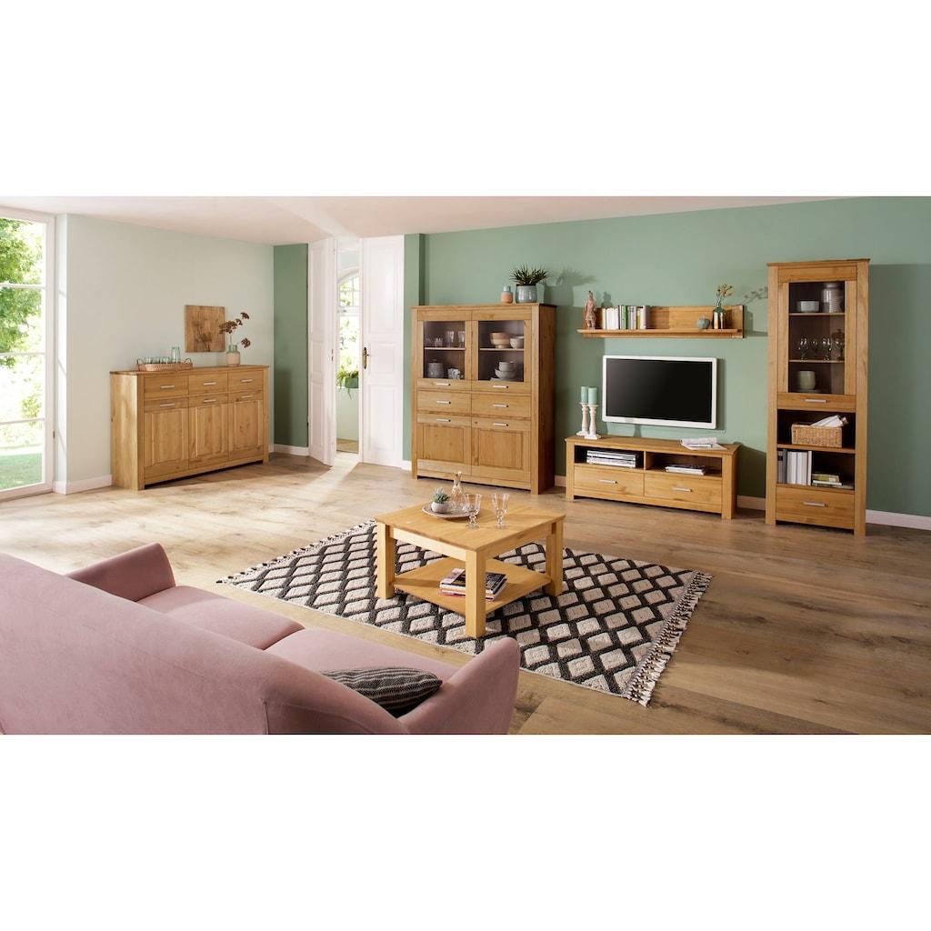 Home affaire Highboard »Sarthe«, aus Kiefer massiv, Breite 141 cm