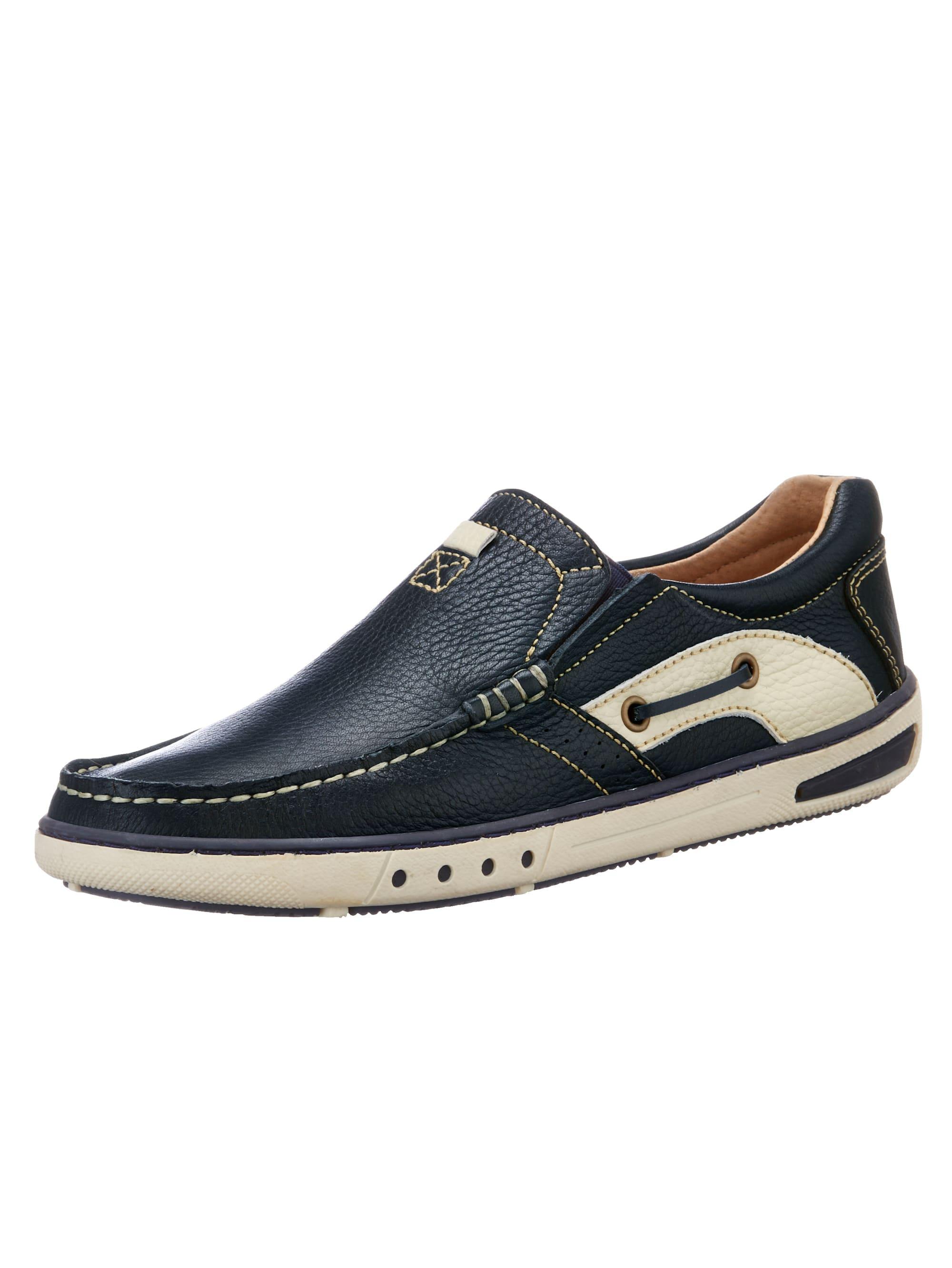 Roger Kent Slipper, im Bootsschuh Stil blau Herren Slipper Sneaker