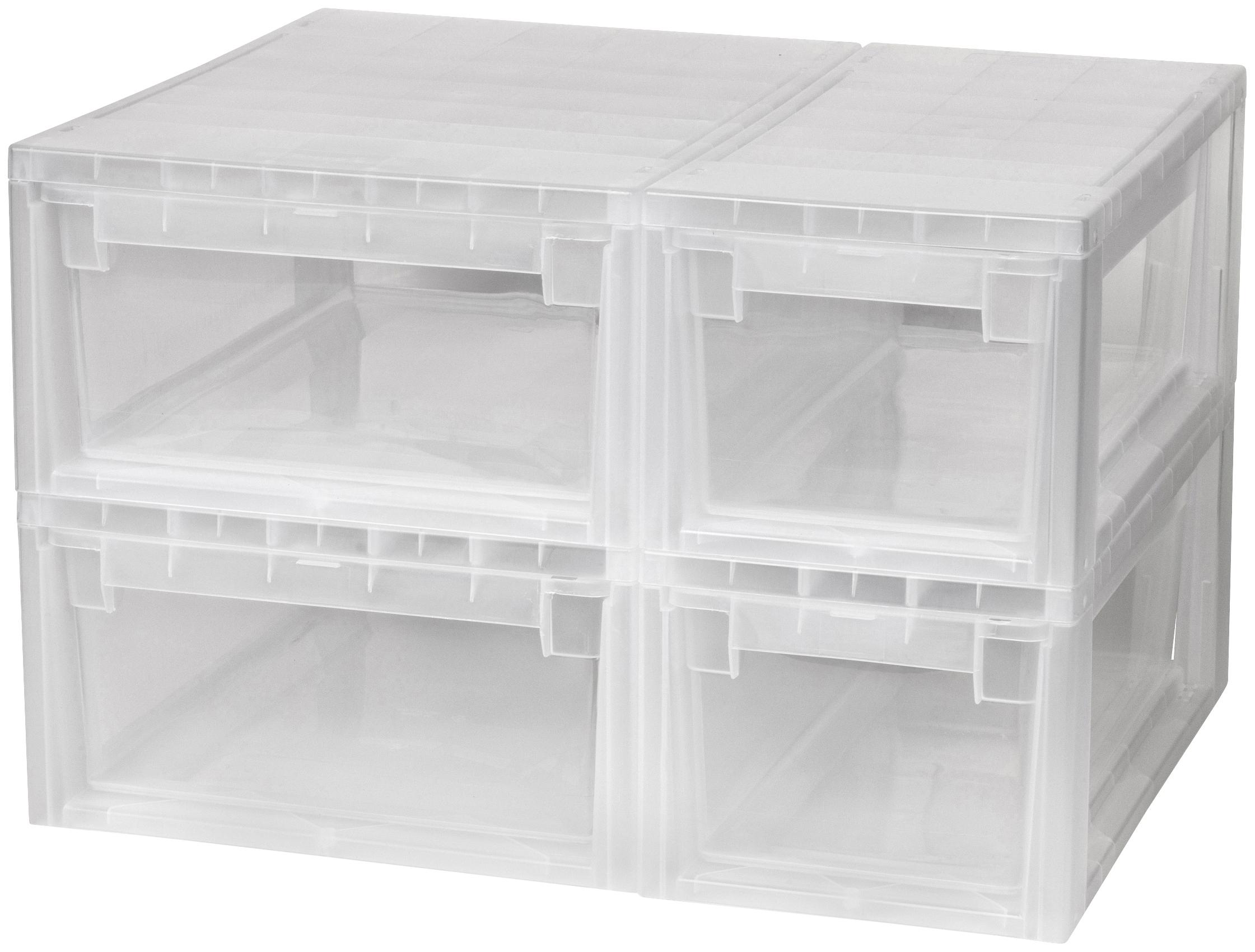 Kreher Aufbewahrungsbox, (Set, 4 St.) farblos Kleideraufbewahrung Aufbewahrung Ordnung Wohnaccessoires Aufbewahrungsbox