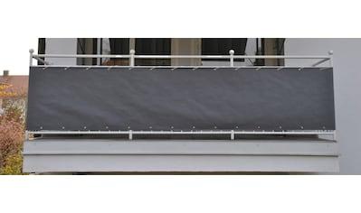 Angerer Freizeitmöbel Balkonsichtschutz, Meterware, grau, H: 90 cm kaufen