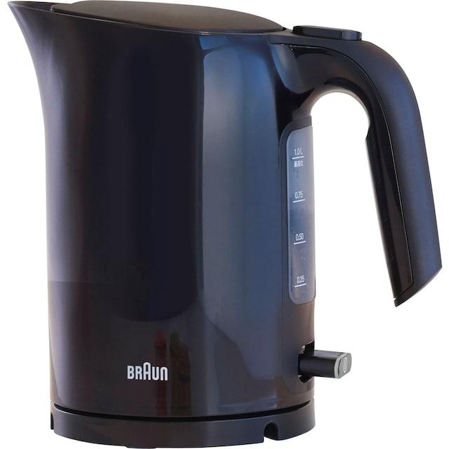 Braun Wasserkocher, WK 3100 BK, 1,7 Liter, 2200 Watt