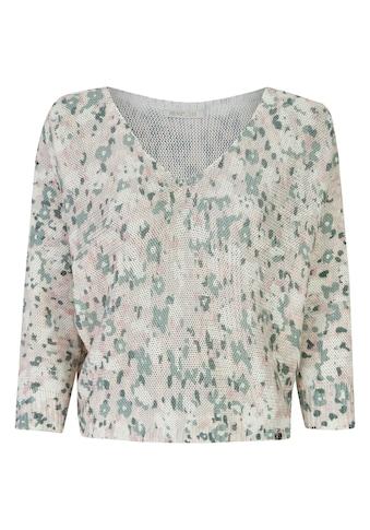 Heimatliebe V-Ausschnitt-Pullover, mit Fleckenmuster kaufen