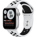 Apple Watch »Nike Series 6 GPS, Aluminiumgehäuse mit Nike Sportarmband 40mm« (, Watch OS, inkl. Ladestation (magnetisches Ladekabel)