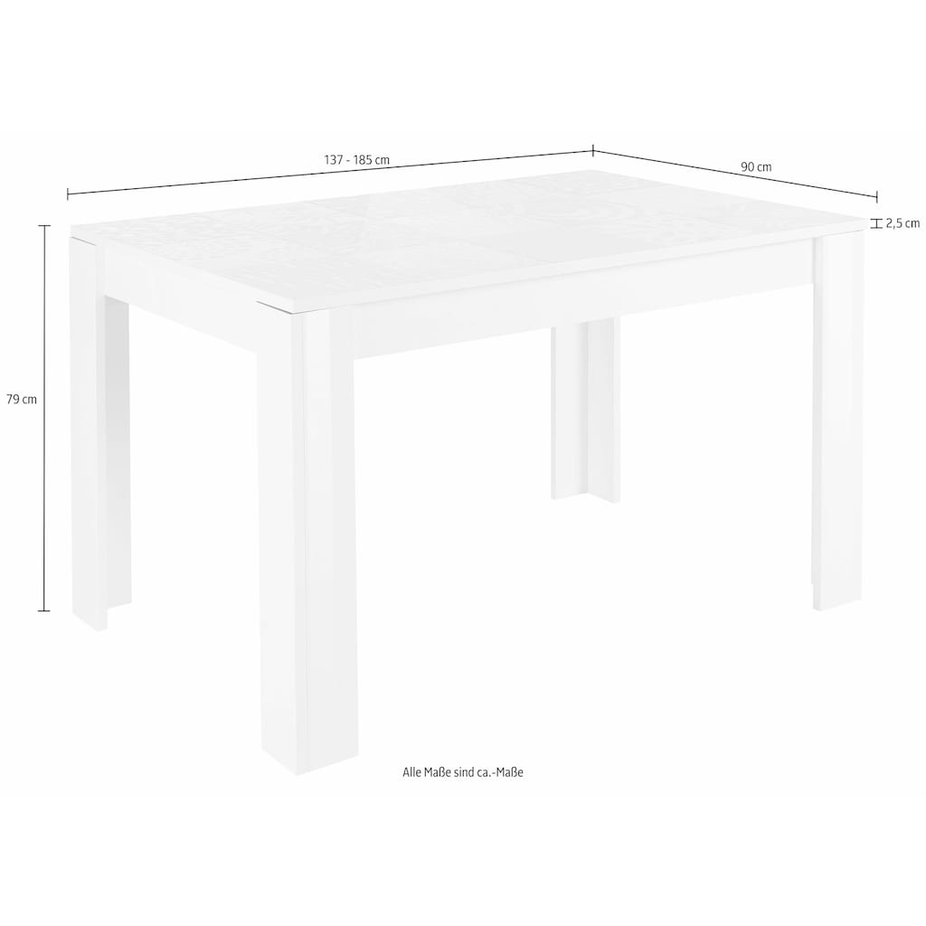 LC Esstisch »Miro«, Breite 137 - 185 cm