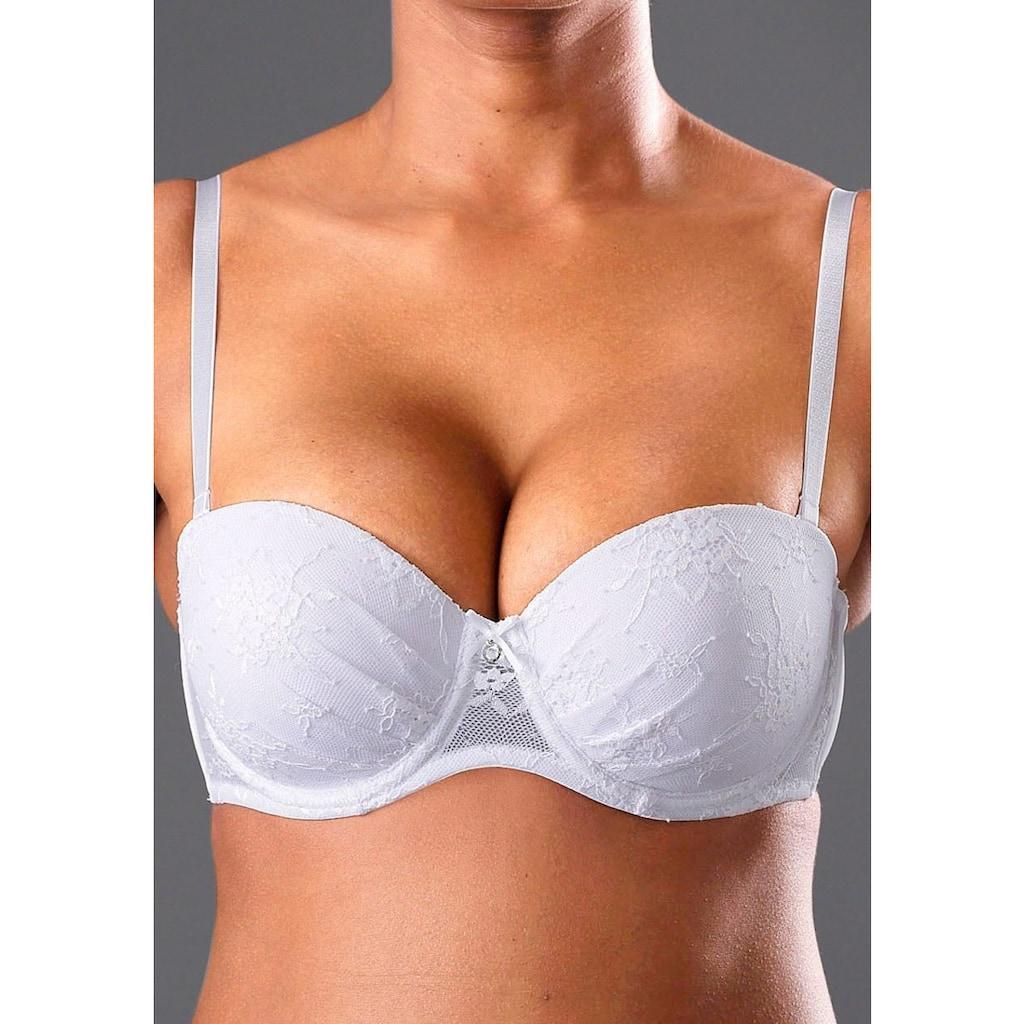 LASCANA Push-up-BH »Chelina«, mit Bügel, mit abnehmbaren, normalen und transparenten Trägern