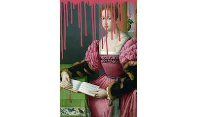 queence Acrylglasbild »Frau mit Buch« kaufen
