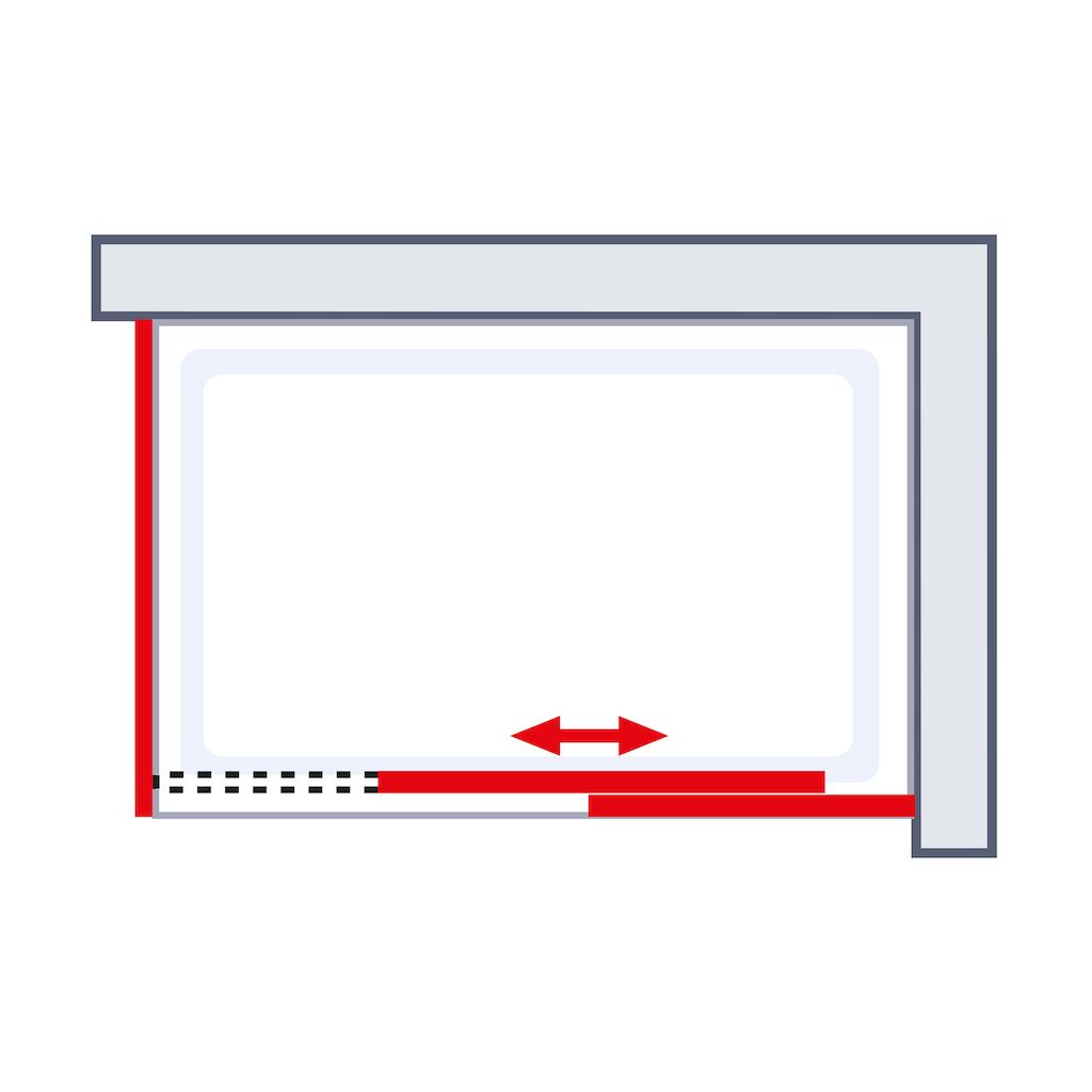 Schulte Dusch-Schiebetür »Alexa Style 2.0«, rahmenlos