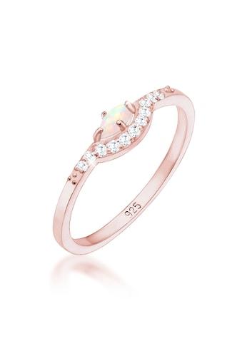 Elli Fingerring »Vintage Design Zirkonia Marquise Opal 925er Silber« kaufen