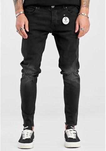 2Y Premium Slim-fit-Jeans »JONAS«, mit rockigen Destroyed-Elementen kaufen