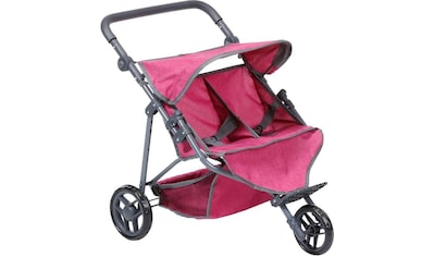 """Knorrtoys® Puppen - Zwillingsbuggy """"Duo, berry"""" kaufen"""