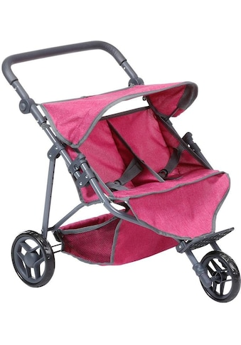Knorrtoys® Puppen-Zwillingsbuggy »Duo, berry« kaufen
