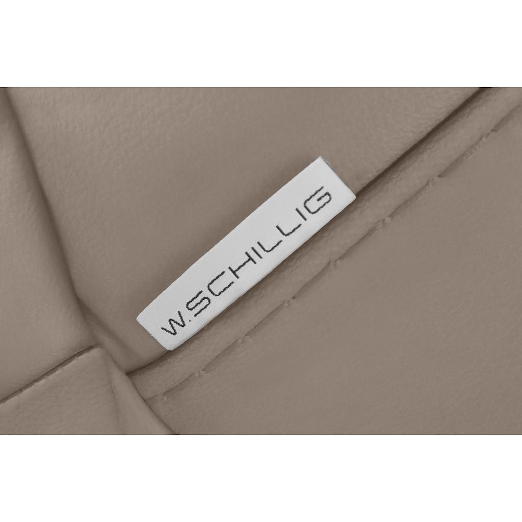 W.SCHILLIG 2,5-Sitzer »montanaa«, mit Metallfüßen in Bronze pulverbeschichtet, Breite 232 cm