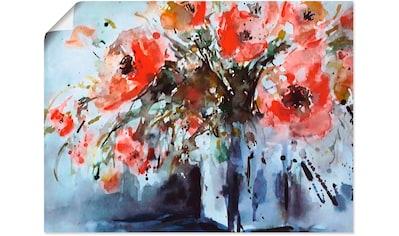 Artland Wandbild »Mohn in Vase« kaufen