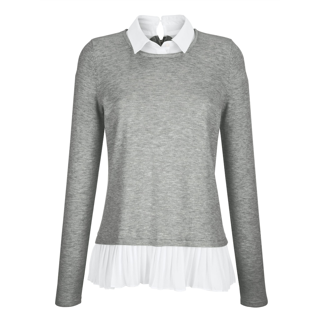 Alba Moda Pullover im modischen Layer-Look