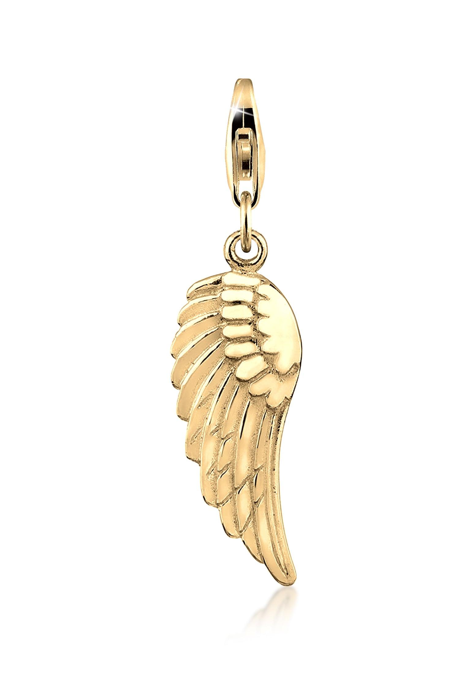 Nenalina Charm-Einhänger Anhänger Flügel Engel Glücksbringer 925 Silber | Schmuck > Charms | Nenalina