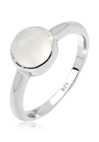 Elli Fingerring »mit Mondstein rund 925 Sterling Silber« kaufen