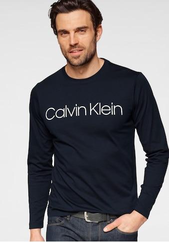 Calvin Klein Langarmshirt »COTTON LOGO LONG SLEEVE T-SHIRT«, Auffälliger Markenprint im Frontbereich kaufen