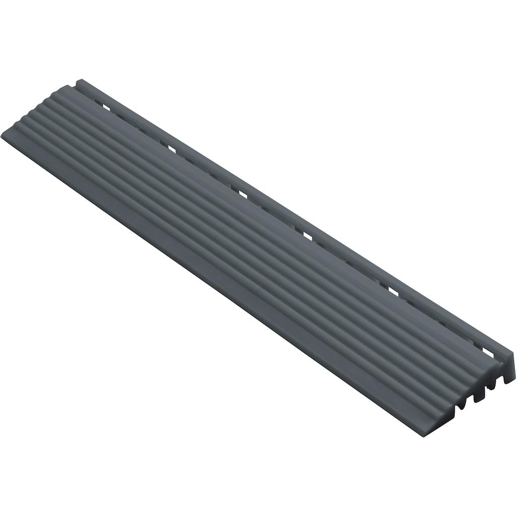 florco® Klickfliesen-Kantenleiste, Seitenteil grau, 40 cm