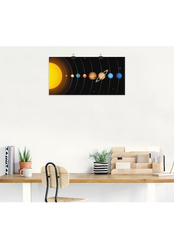 Artland Wandbild »Vector Sonnensystem mit Planeten« kaufen