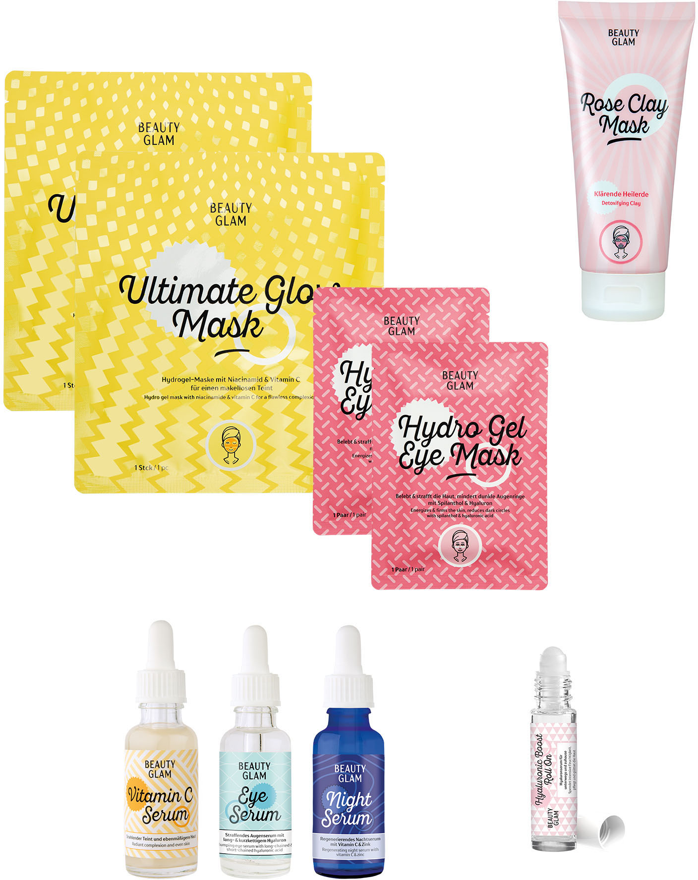 beauty glam -  Gesichtspflege-Set Your Daily Glow Up, (9 tlg.)