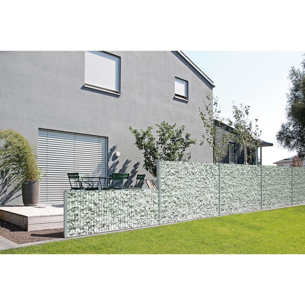 GAH Alberts Mauersystem »Gabionen-Anbauset Step²«, feuerverzinkt, 180 cm hoch, 2 m, zum Aufschrauben