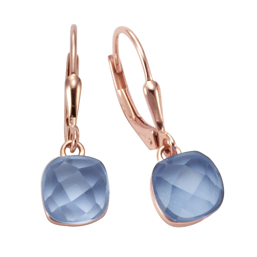 Jamelli Paar Ohrhänger »925/- Sterling Silber Quarz blau (beh.)«, Ohrhänger