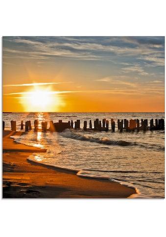 Artland Glasbild »Schöner Sonnenuntergang am Strand«, Strand, (1 St.) kaufen