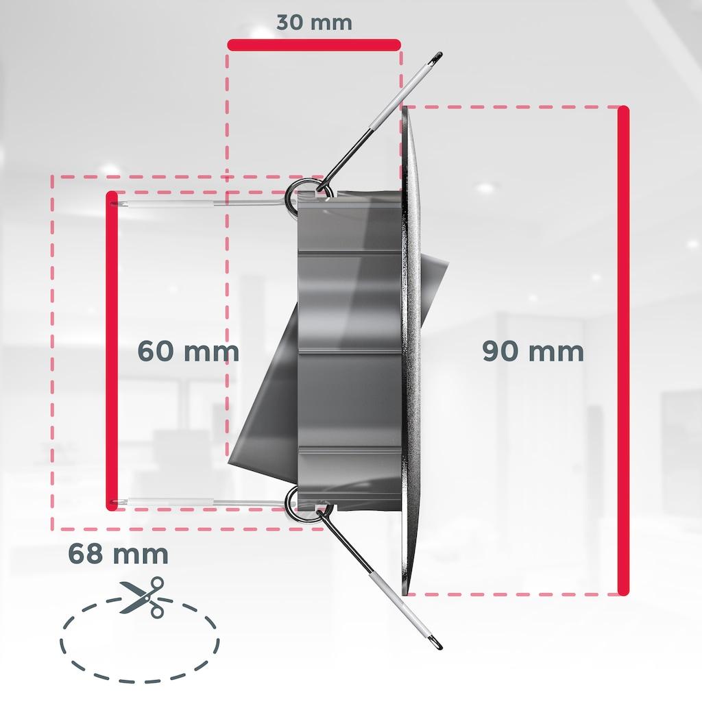 B.K.Licht LED Einbauleuchte, LED-Board, 6 St., Warmweiß, 6er Set schwenkbare Einbauleuchten, ultra flach (30mm)
