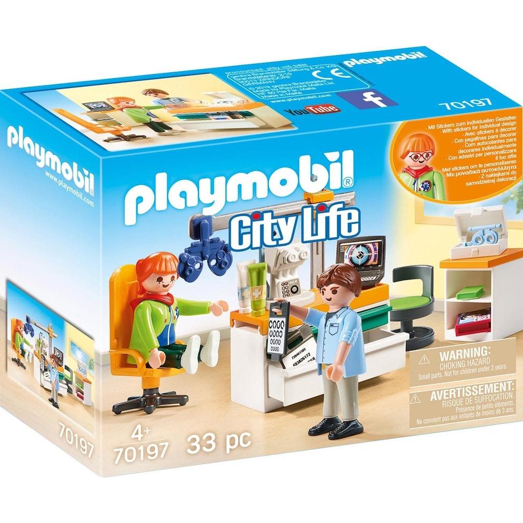 Playmobil® Konstruktions-Spielset »Beim Facharzt: Augenarzt (70197), City Life«, (33 St.), Made in Europe