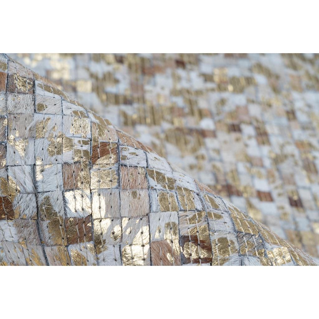 calo-deluxe Fellteppich »Vezzana 615«, rechteckig, 5 mm Höhe, echtes Rinderfell, Wohnzimmer