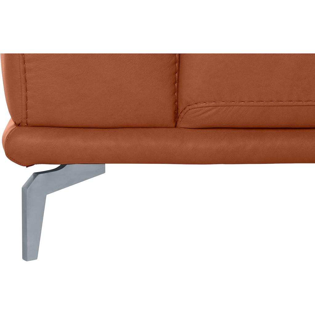W.SCHILLIG 2,5-Sitzer »montanaa«, mit Metallfüßen in Silber matt, Breite 232 cm