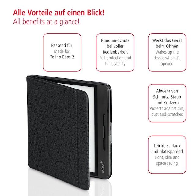 Hama eBook-Case, E-Reader Hülle für Tolino Epos 2, Schwarz »E-Reader Tasche«