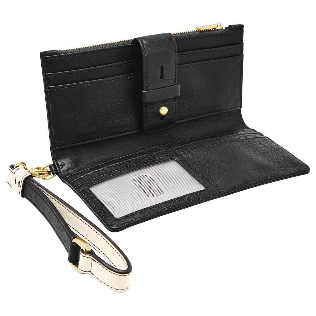 Fossil Geldbörse »Willa«, und Kartenetui im 2-teiligen Set aus Leder mit abenehmbarer Handschlaufe