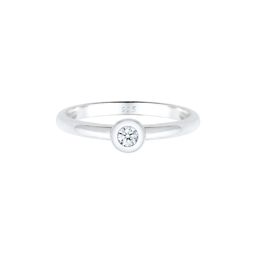 Diamore Diamantring »Solitär Verlobung Diamant (0.06 ct.) 925 Silber«